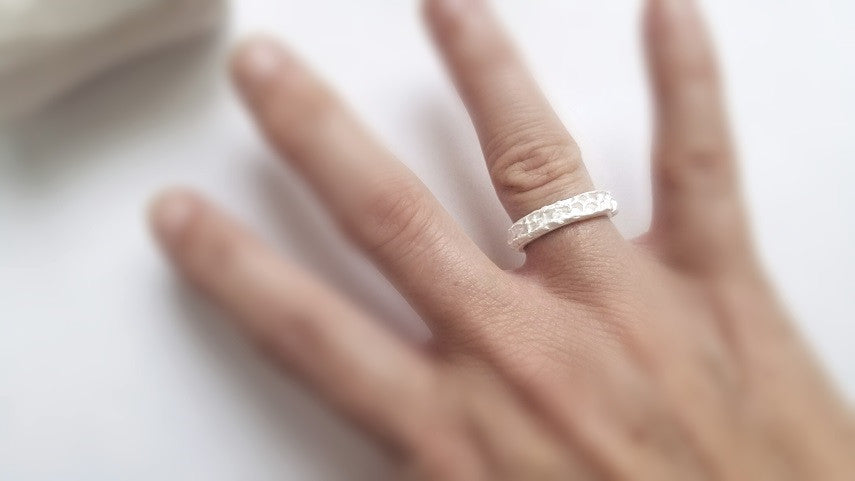 The Sterling Silver Lace Ring