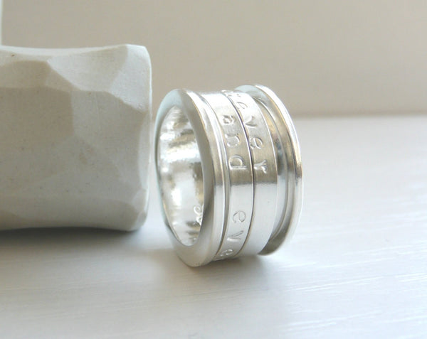 The Poem Ring Sterling Silver Spinner Ring