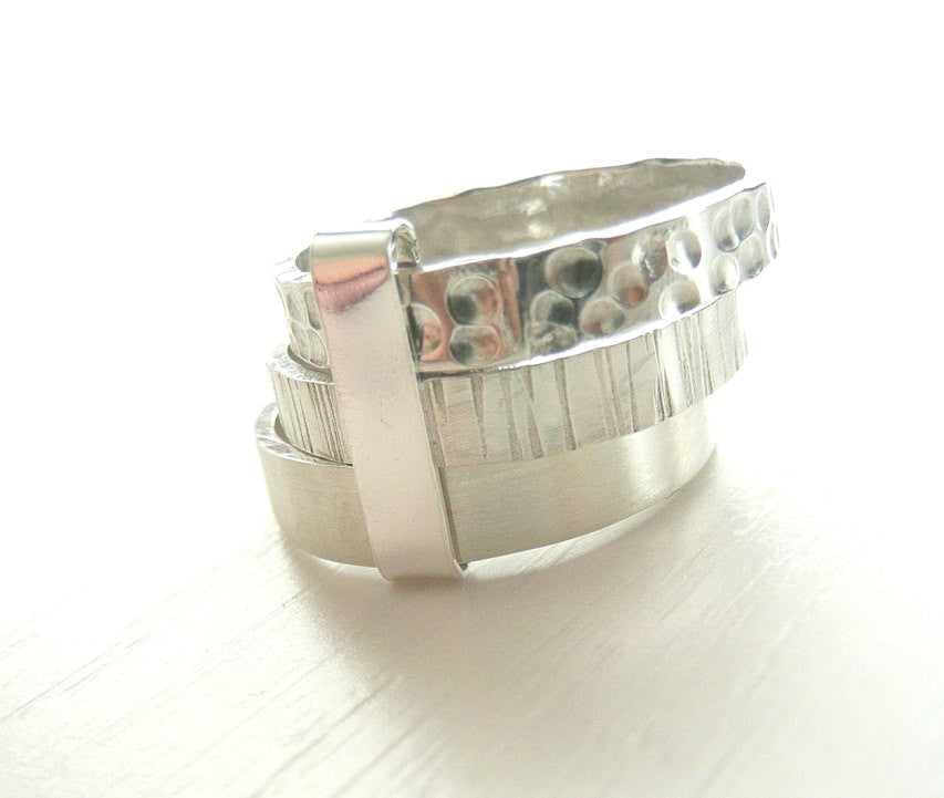 Sterling Silver Trio Band Three Stacked Rings