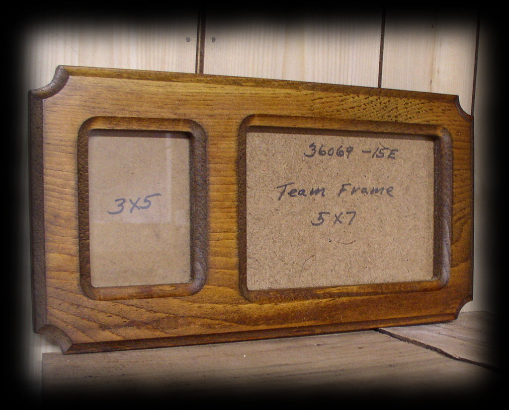 fr Rustic Solid Wood Team and Event Picture Frame With Glass and Back Board 5 X 7 And 5 X 3