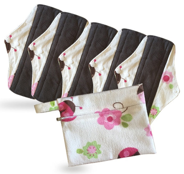 set of 5 menstrual pads