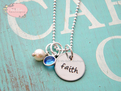 Personalized Pearl + Birthstone Necklace
