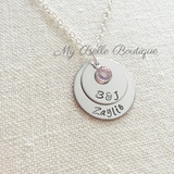 Personalized Double Disc Birthstone Necklace