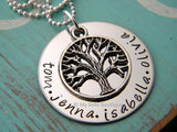 Family Tree Hand-Stamped Necklace