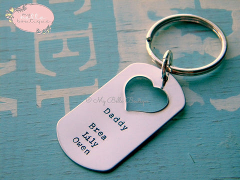 Personalized Heart Cutout Keychain