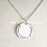 Personalized Simple Family Names Necklace