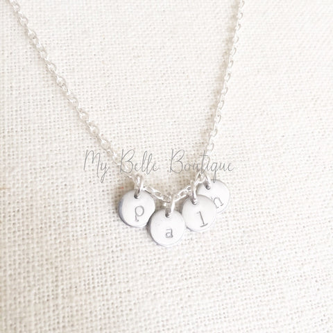 Personalized Mini Discs Initial Necklace