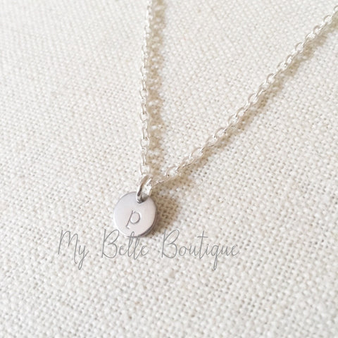 Personalized Mini Initial Necklace