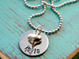 Personalized Single Name Heart Necklace