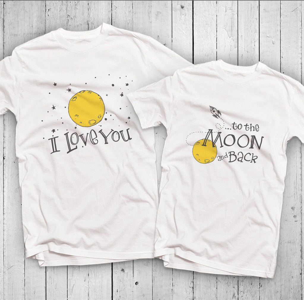 Áo đôi - I love you to the moon Couple T shirt