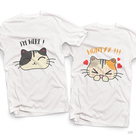 Áo đôi - Cat Couple T shirt