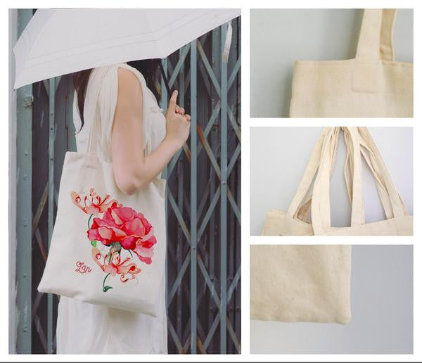 Tote Bag Rose White