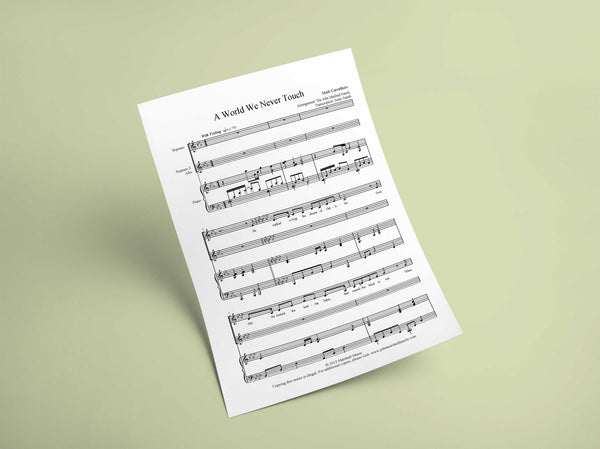 A World We Never Touch // Sheet Music - Marshall Music