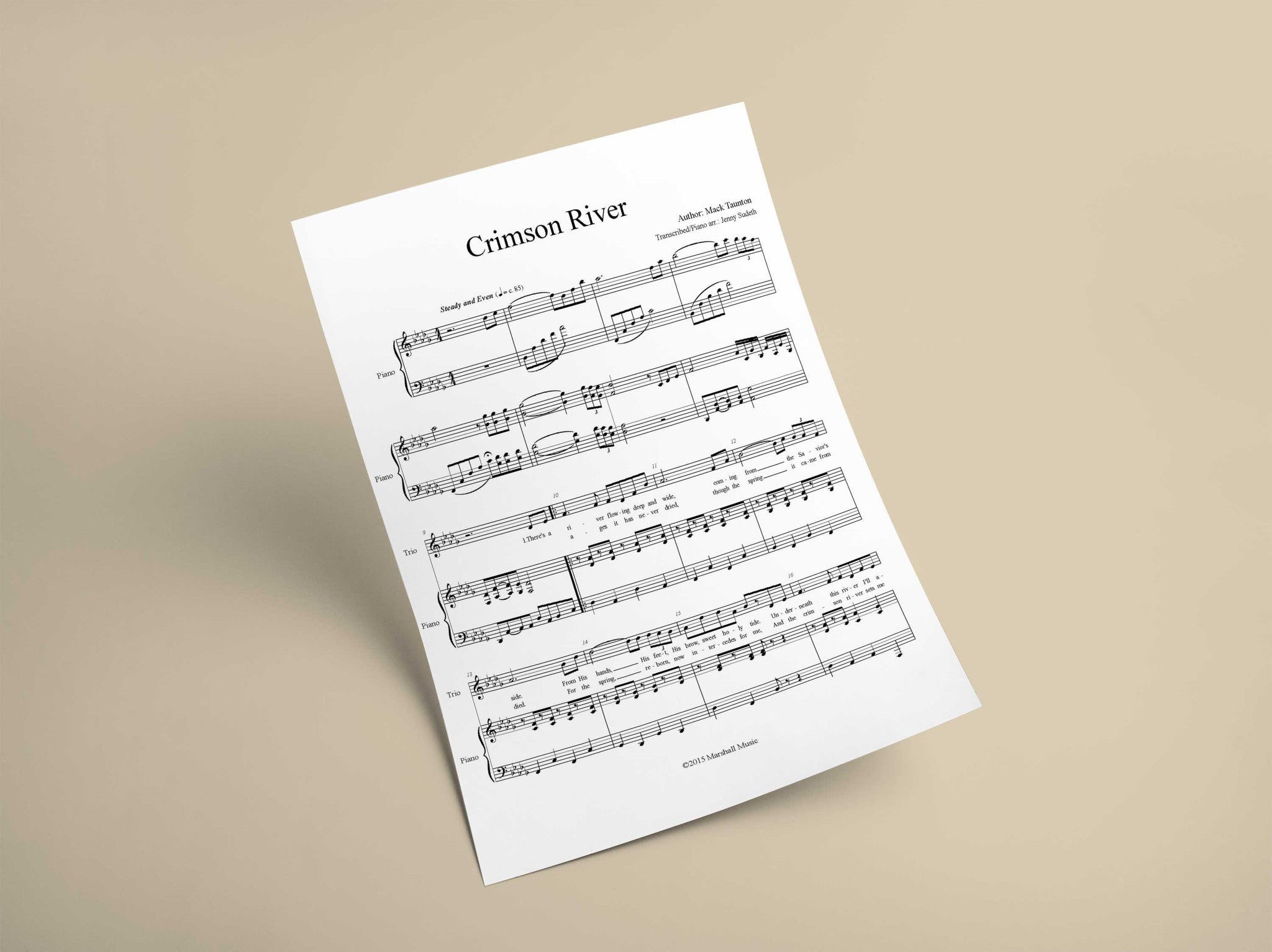 Crimson River // Sheet Music - Marshall Music