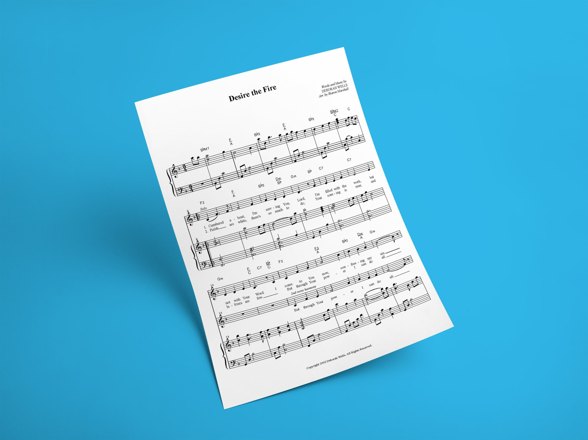 Desire the Fire // Sheet Music
