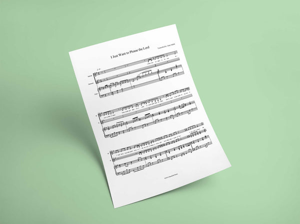 I Just Want to Please the Lord // Sheet Music - Marshall Music