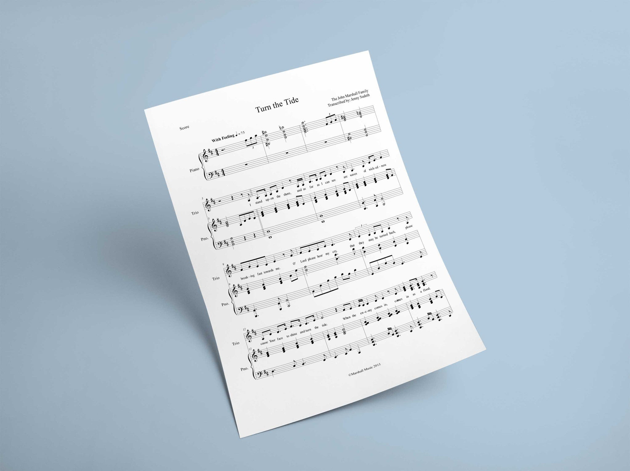 Turn the Tide // Sheet Music - Marshall Music
