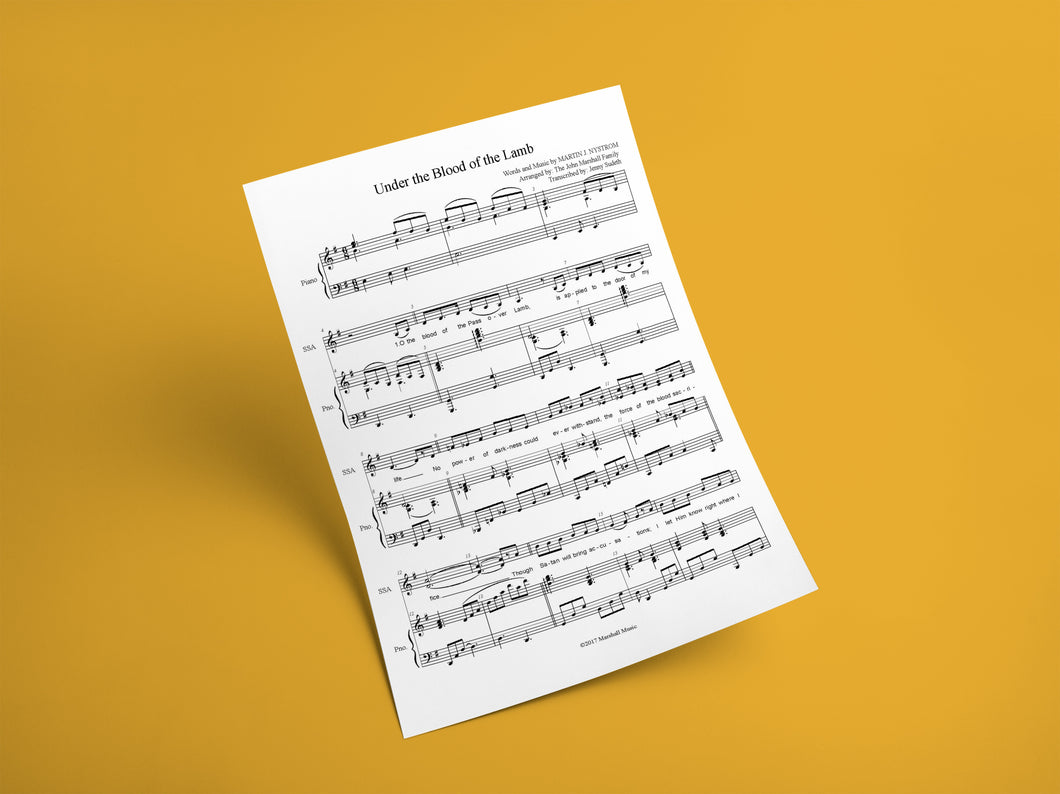 Under the Blood of the Lamb // Sheet Music - Marshall Music