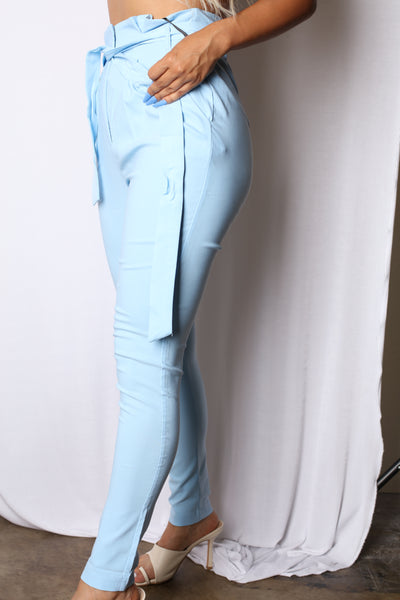 Stitched Like Crazy Laced Up Halter Top Dodger Blue