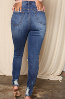 Perfect Fit Distressed Skinny Ankle Jeans
