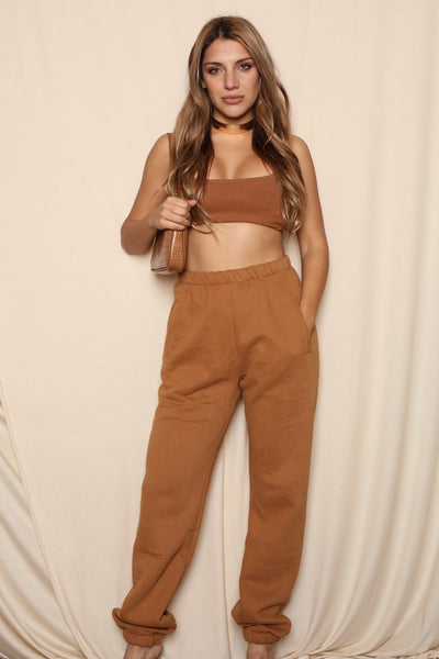 Matching Jogger Sweatset Tan