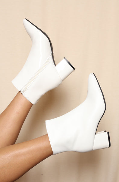 Disco Days Two Toned White Boots