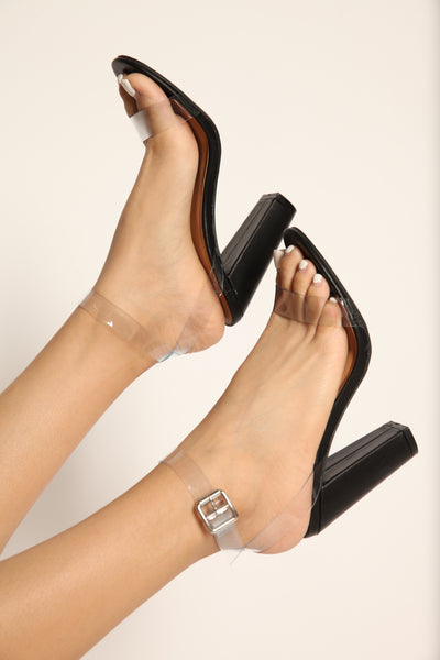 Light The Way Neon Chunk Heel Black