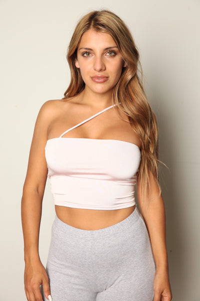 Strawberry Latte One Strap Tube Top