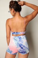Tie Dye Bling Short Set