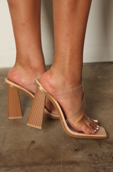 Square Toe Strappy Summer Chunk Heels