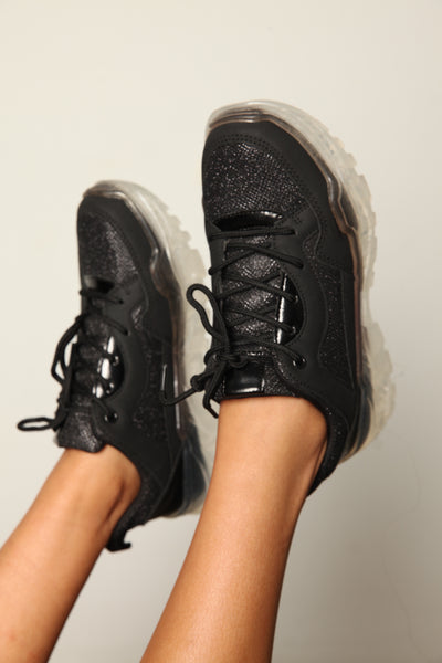 Balenci Runway Dad Sneakers Twinkle Black