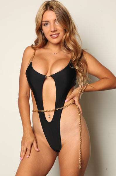Sexy Chained In Monokini