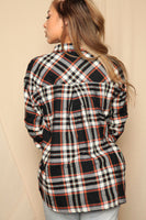 Rust Button Up Flannel Top
