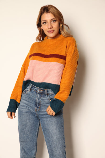 Totally Groovy Color Blocked Sweater