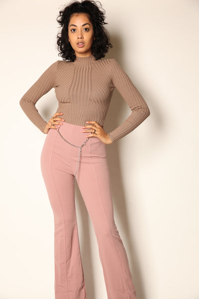 Waist Chain Pants Blush