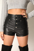 Total Baddie Leather High Rise Shorts