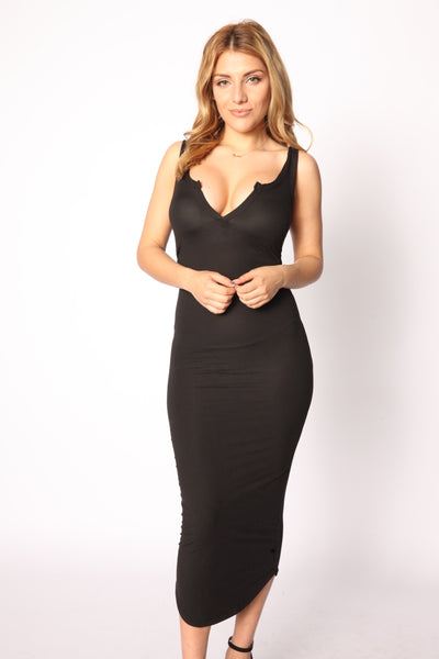 Maxi Split Dress Black