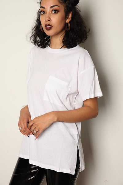 Relaxed Pocket Tee White