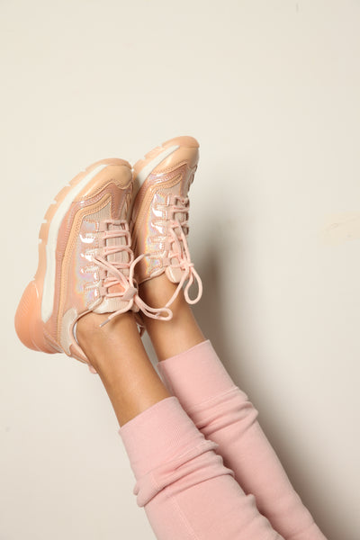 Just Peachy Holographic Sneakers