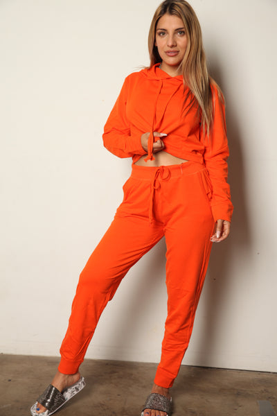 Bad Girl Orange Sweat Set
