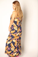 Aloha Baby Simple Printed Maxi Dress Navy