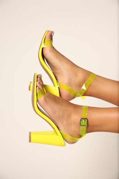Light The Way Neon Chunk Heel Yellow