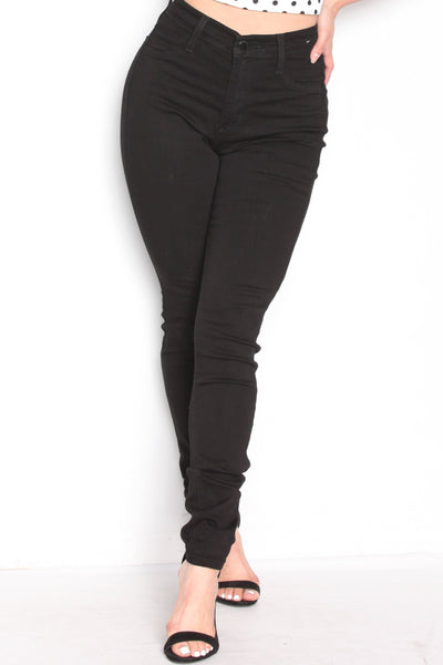 Perfect Fit High Waisted Jean Pants Black