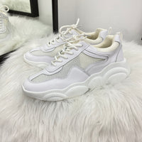 Eezy Lace Up White Sneakers
