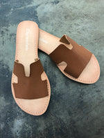 Herm Slide Sandals Camel