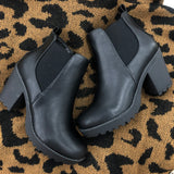 Daily Lug Sole Black Booties
