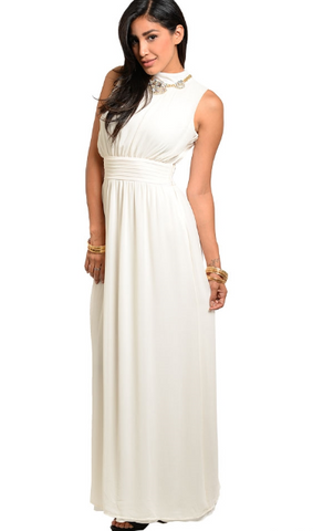 Careless Whispers Ivory Chiffon Sleeveless Maxi - The Elegant Rant Boutique | A True Online Boutique - 1