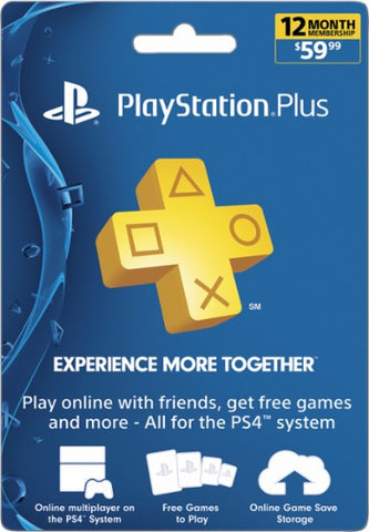 PlayStation Plus 12 Month / 1 Year Subscription Membership for PS4 & PS3