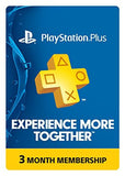 PlayStation Plus 3 Month Subscription Membership for PS4 & PS3