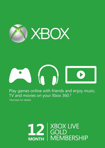 Xbox Live 12 month Gold Membership Subscription